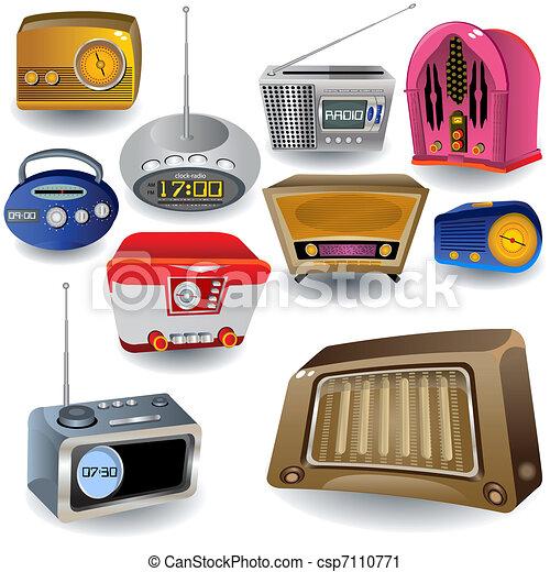 Radio Icons - csp7110771