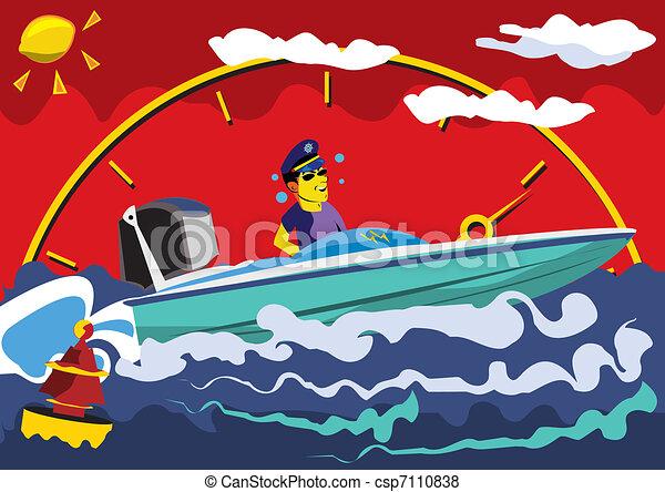 Motor Boat - csp7110838
