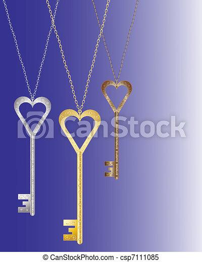 heart shaped key - csp7111085