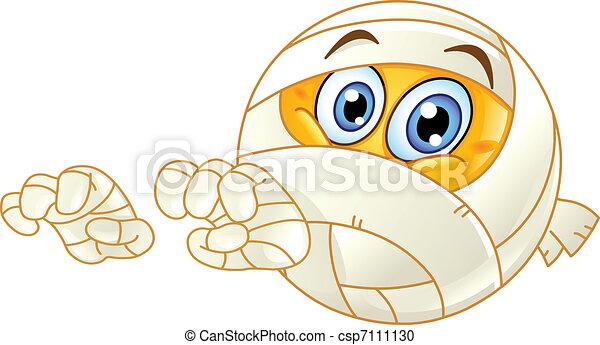 Mummy emoticon - csp7111130