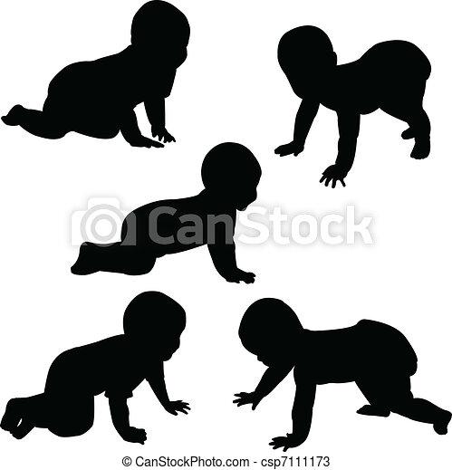 babies crawling - csp7111173