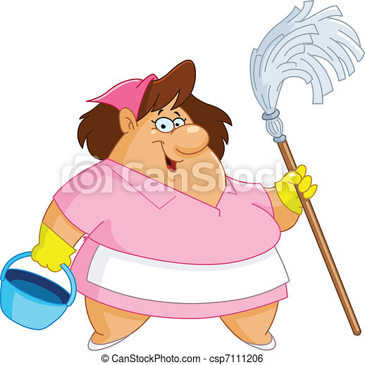 Woman Cleaning Logo Cleaning Woman