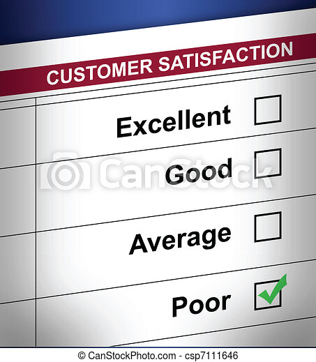 poor customer survey terrible - csp7111646