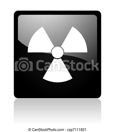 radiation icon - csp7111821