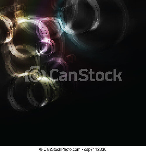 Vibrant backdrop with multicolored circles - csp7112330