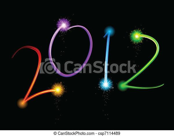 Light streak 2012 - csp7114489
