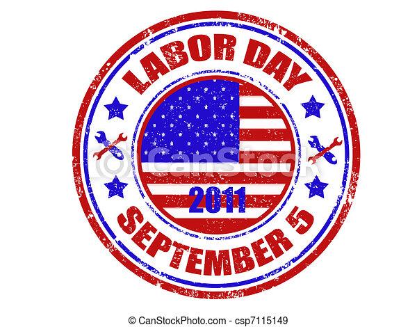 Labor day stamp - csp7115149