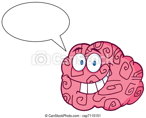 Brain Character Talking - csp7115151