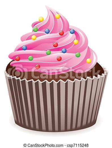 pink cupcake  - csp7115248