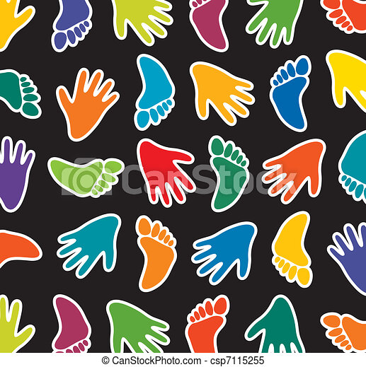 colorful feet and hands - csp7115255