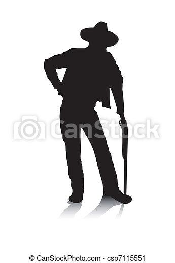 Man and Gun - csp7115551