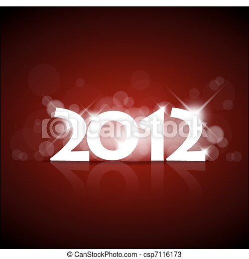 Vector New Year card 2012 - csp7116173