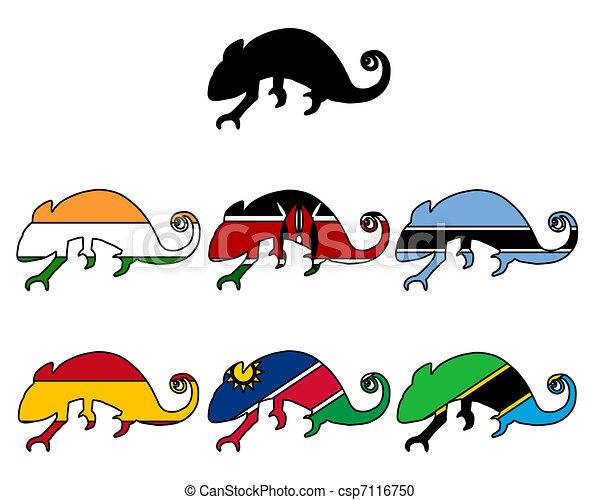 Chameleon flags - csp7116750
