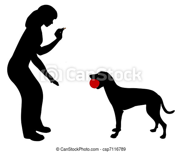 Dog obedience: Command trade! - csp7116789