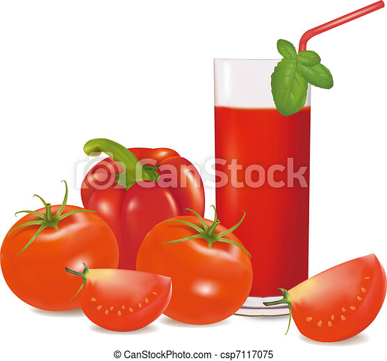 A glass of tomato juice - csp7117075