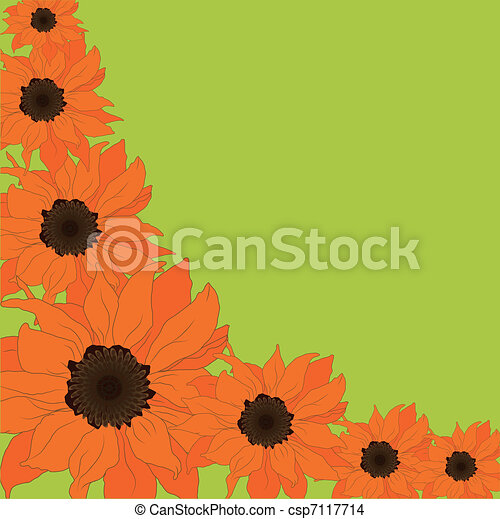 Abstract  sunflower background - csp7117714