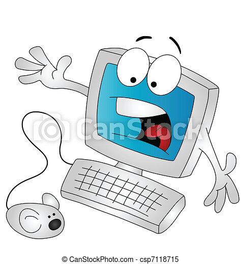 Cartoon computer  - csp7118715
