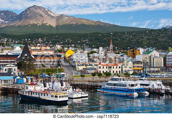 Ushuaia Harbor, Tierra del Fuego - csp7118723