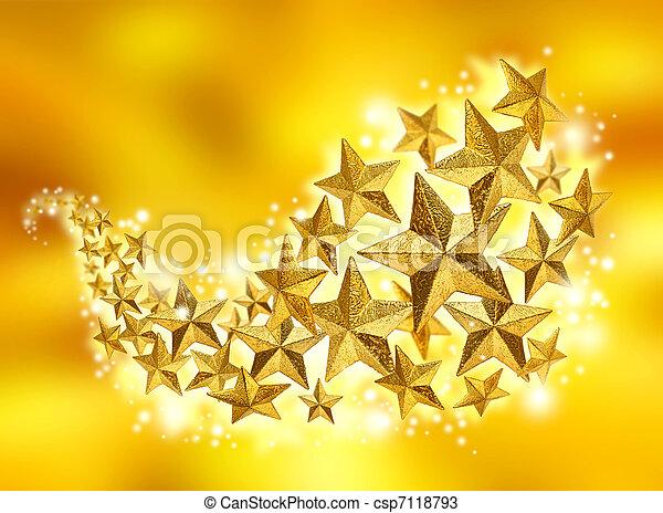 Golden stars celebration flow - csp7118793