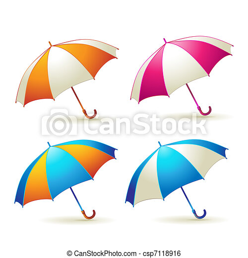 Colored umbrellas - csp7118916