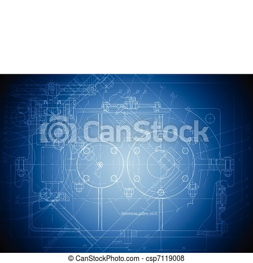 Hi-tech engineering drawing - csp7119008