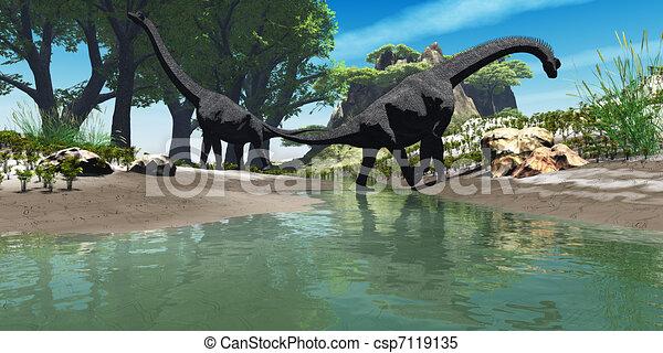 Brachiosaurus Dinosaur - csp7119135