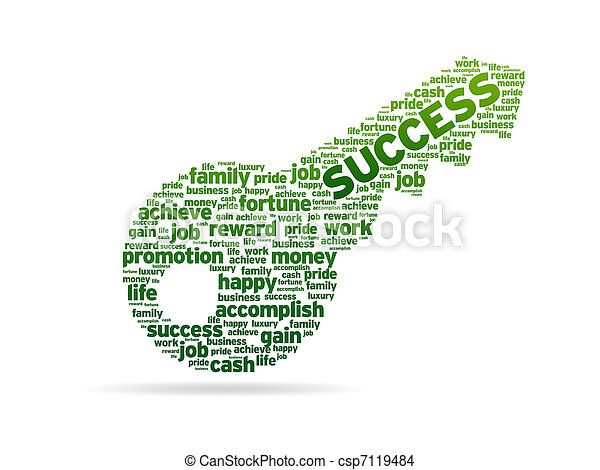 Words - Key To Success - csp7119484