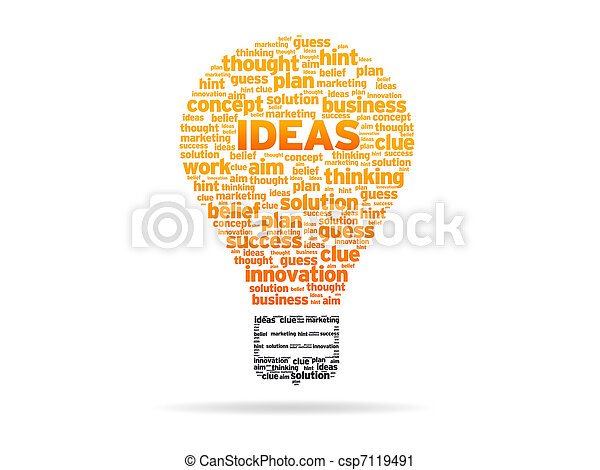 Words - Ideas - csp7119491