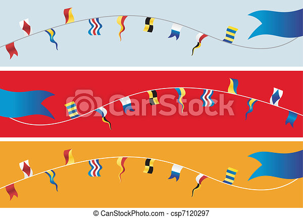 Banner of nautical flags. - csp7120297