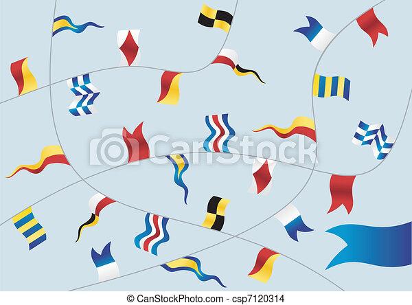 Set of nautical flags. - csp7120314