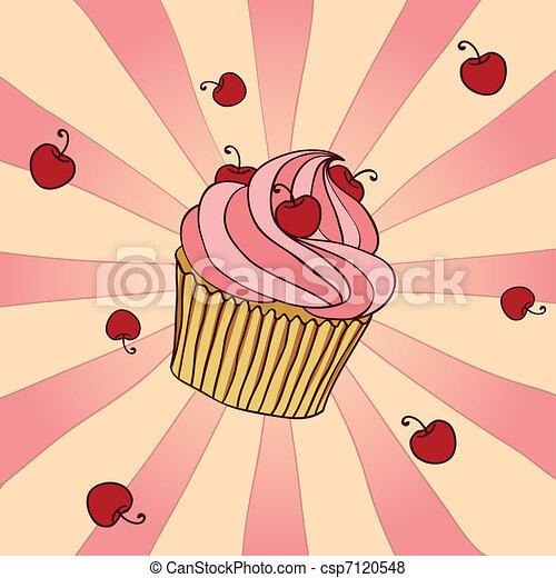 Yummy Cupcake - csp7120548