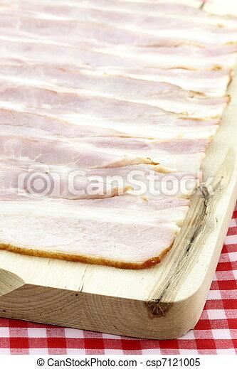 cured delicious bacon - csp7121005