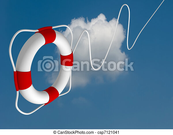 Flying life preserver for first help - csp7121041