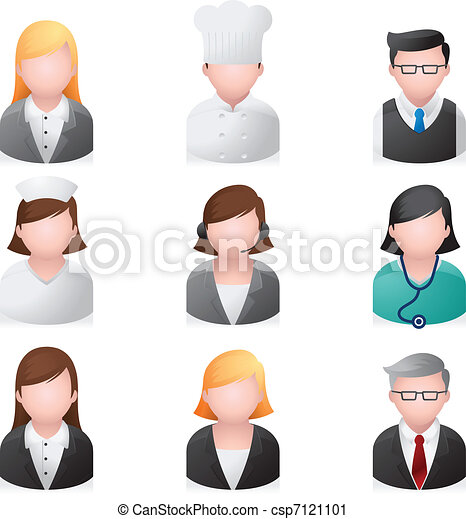 Web Icons - Professional People - csp7121101