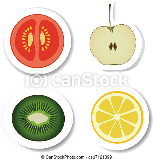vegetable and fruit stickers - csp7121399