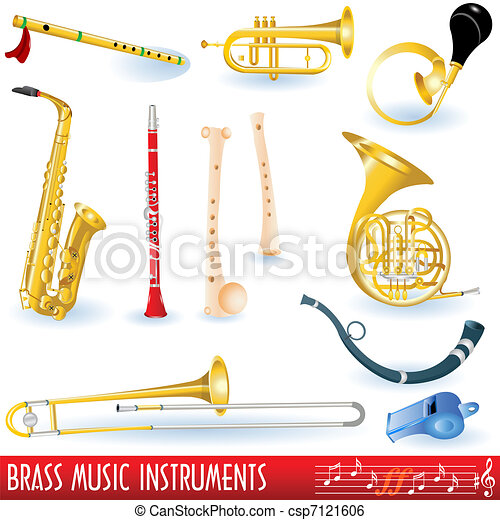 Brass music instruments - csp7121606