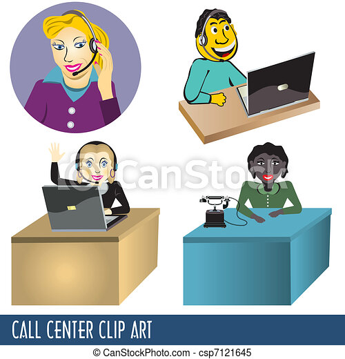 Call Center Clip Art - csp7121645