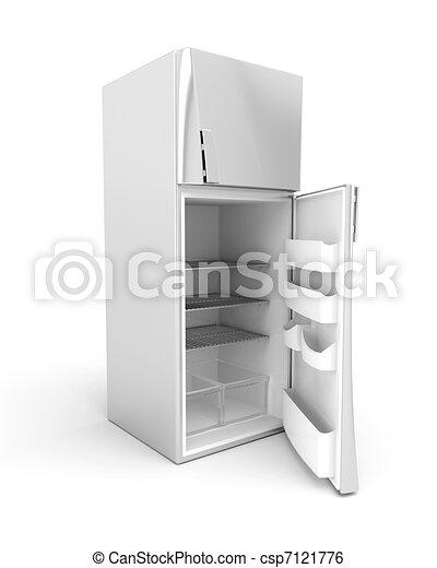 image de argent moderne frigidaire ouvert porte 3d image csp7121776 recherchez des. Black Bedroom Furniture Sets. Home Design Ideas
