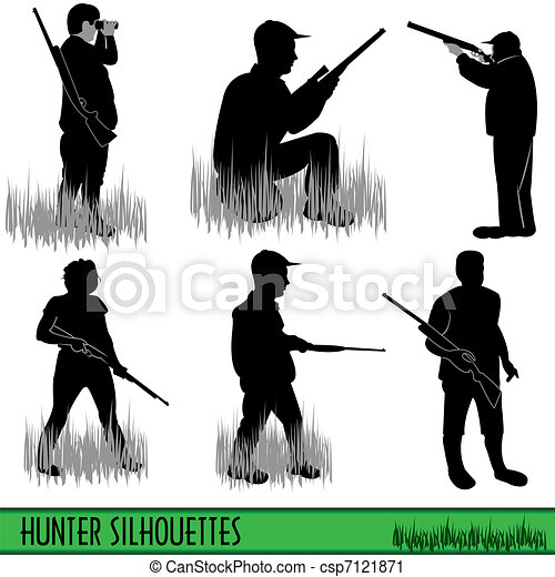 Hunter silhouettes - csp7121871