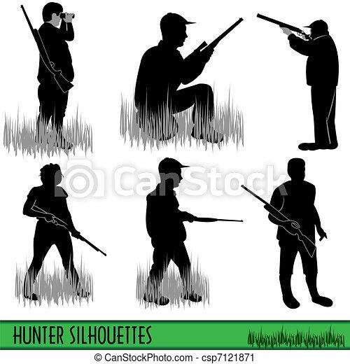 Hunter silhouettes - csp7121871