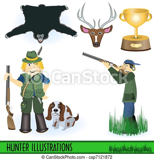 Hunter illustrations - csp7121872