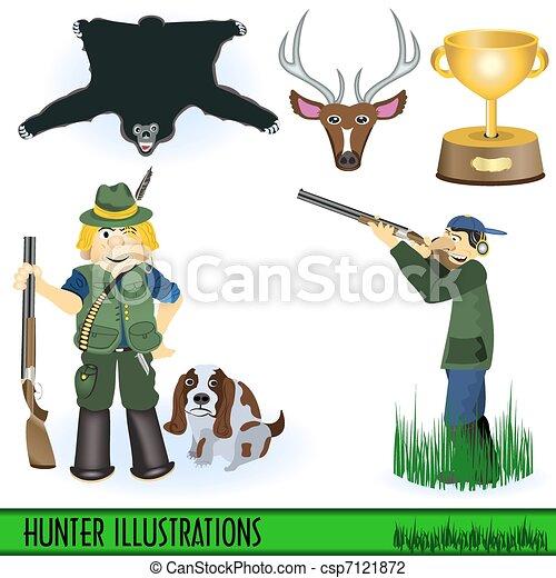 Hunter illustrations - csp7121872
