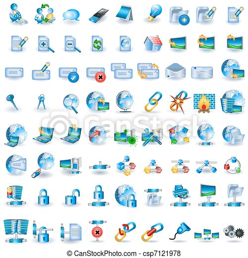 Lightblue Network Icons - csp7121978