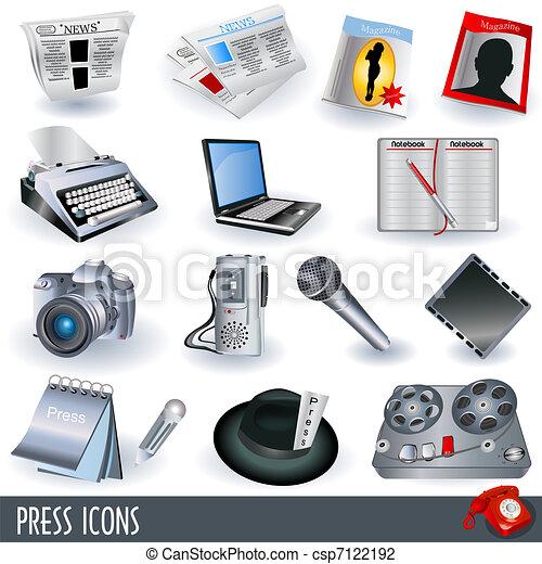 Press Icons - csp7122192