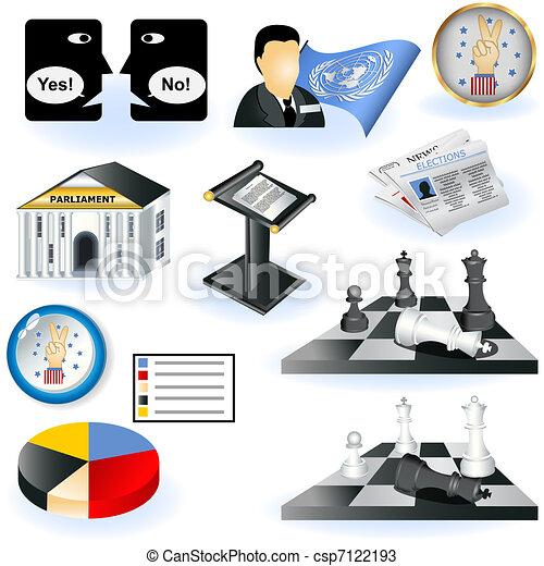 Politics icons - csp7122193