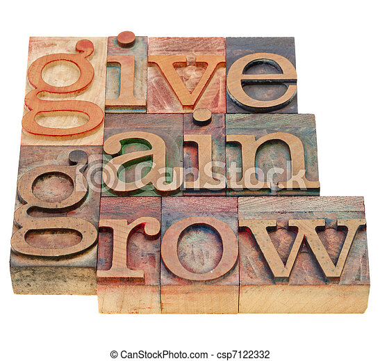 give, gain and grow - csp7122332