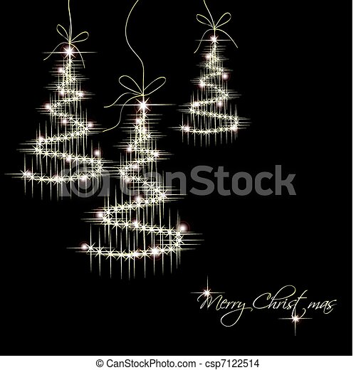 Christmas Background with trees. Vector - csp7122514