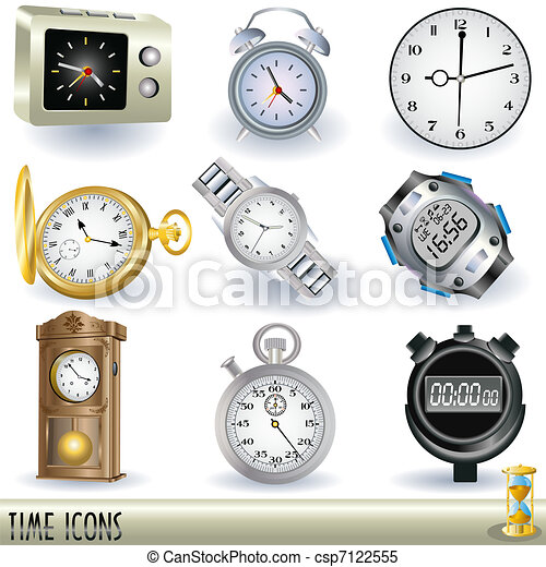 Time icons - csp7122555