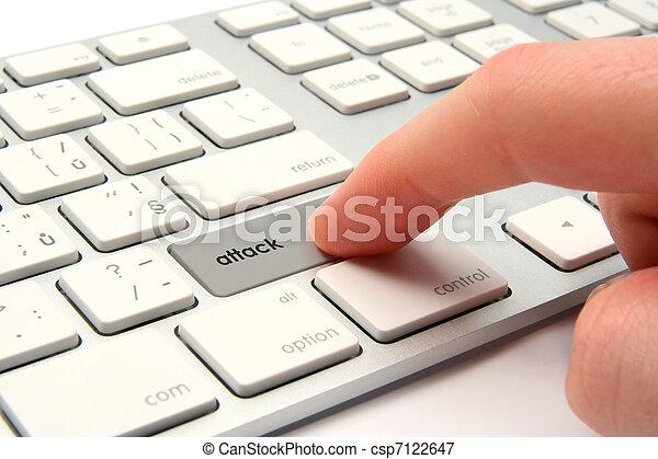 Cyber attack - csp7122647