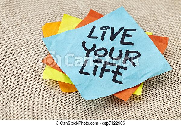 live your life reminder - csp7122906